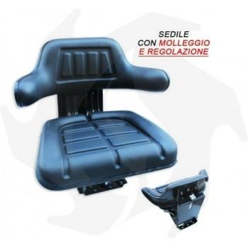 Sedile universale per trattore gommato base inclinabile molleggiato con manici fissi